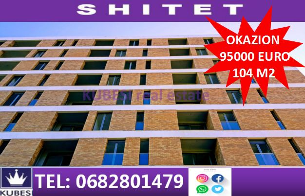 Shitet apartament sp 104 m2
