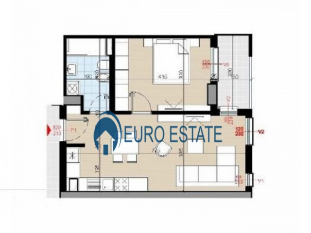 Tirane, shes apartament 1+1+A+BLK Kati 5, 66 m 56.200 Euro (Spitali Nene Tereza)