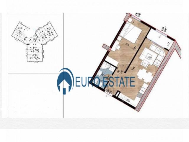 Tirane, shes apartament 1+1+A+BLK 63 m 52.000 Euro (Turdiu, Fusha e Aviacionit)
