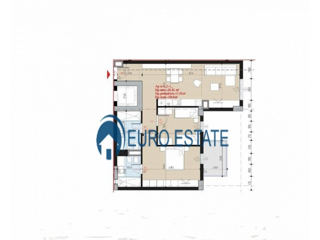 Tirane, shes apartament 2+1+A+BLK Kati 4, 109 m 98.000 Euro (tek Ish Parku)