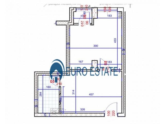 Tirane, shes apartament 1+1+A+BLK Kati 3, 45 m 43.500 Euro (Alidemi)