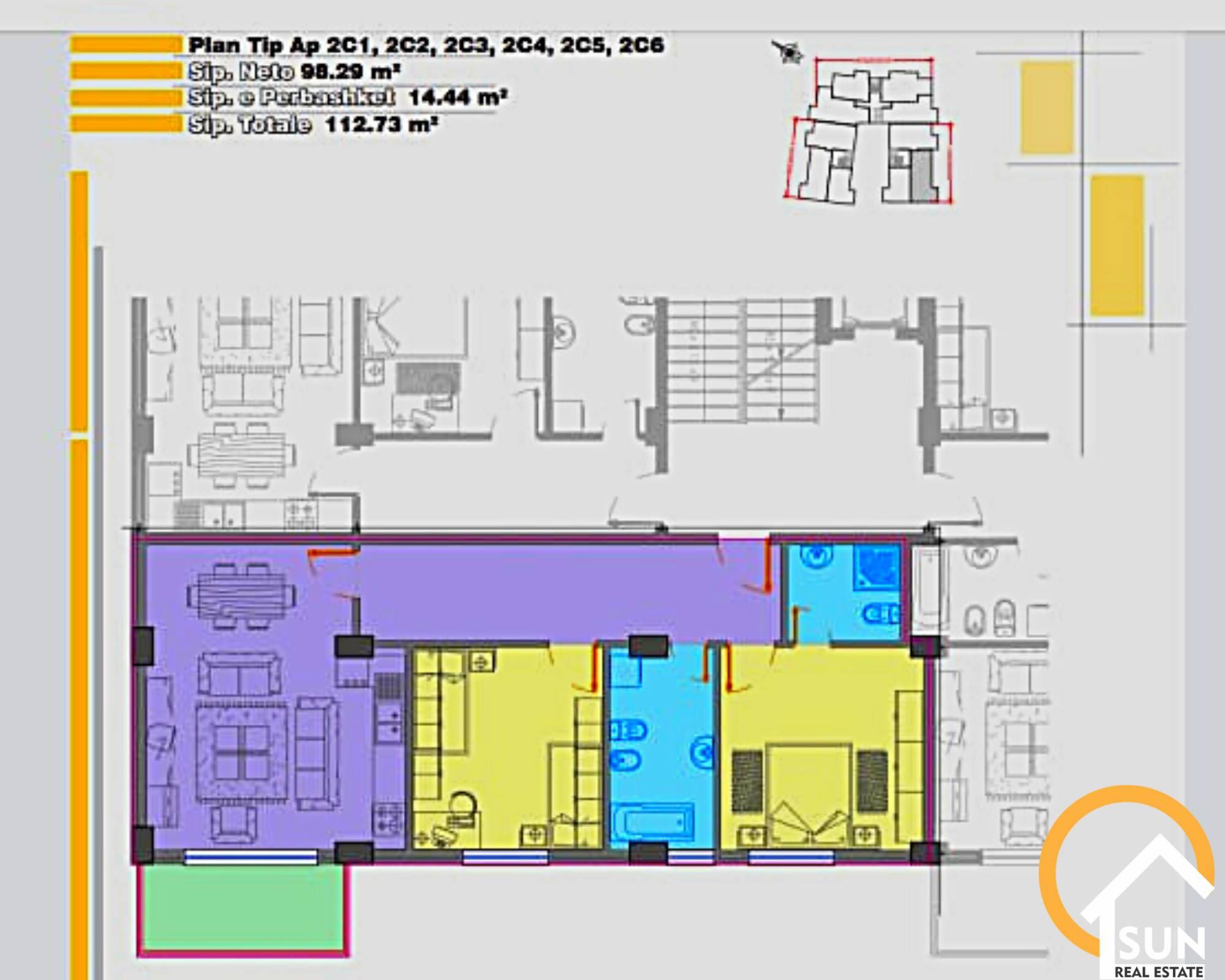 Apartament 2+1 pr shitje tek Teatri ''Migjeni''