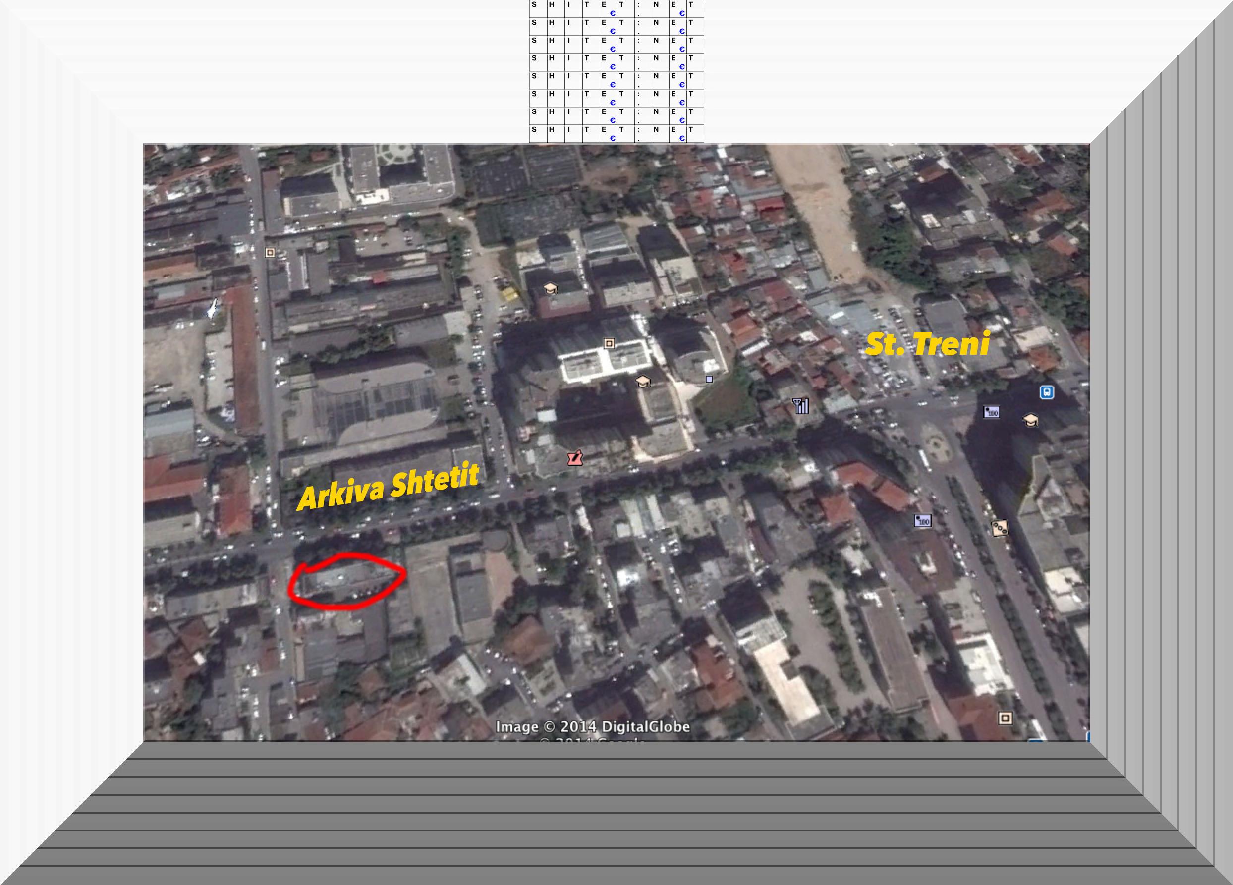 Apartamente ne Tirane prane Arkives se Shtetit tek Treni