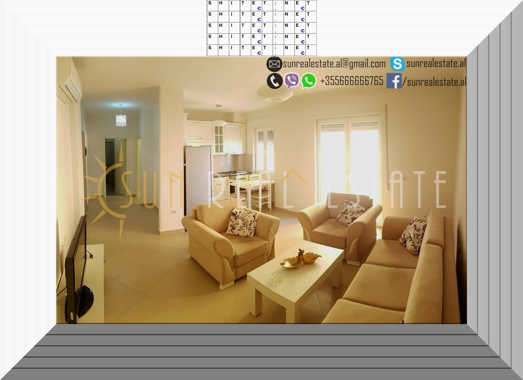 Apartament 2+1 me qera ne Shkoder