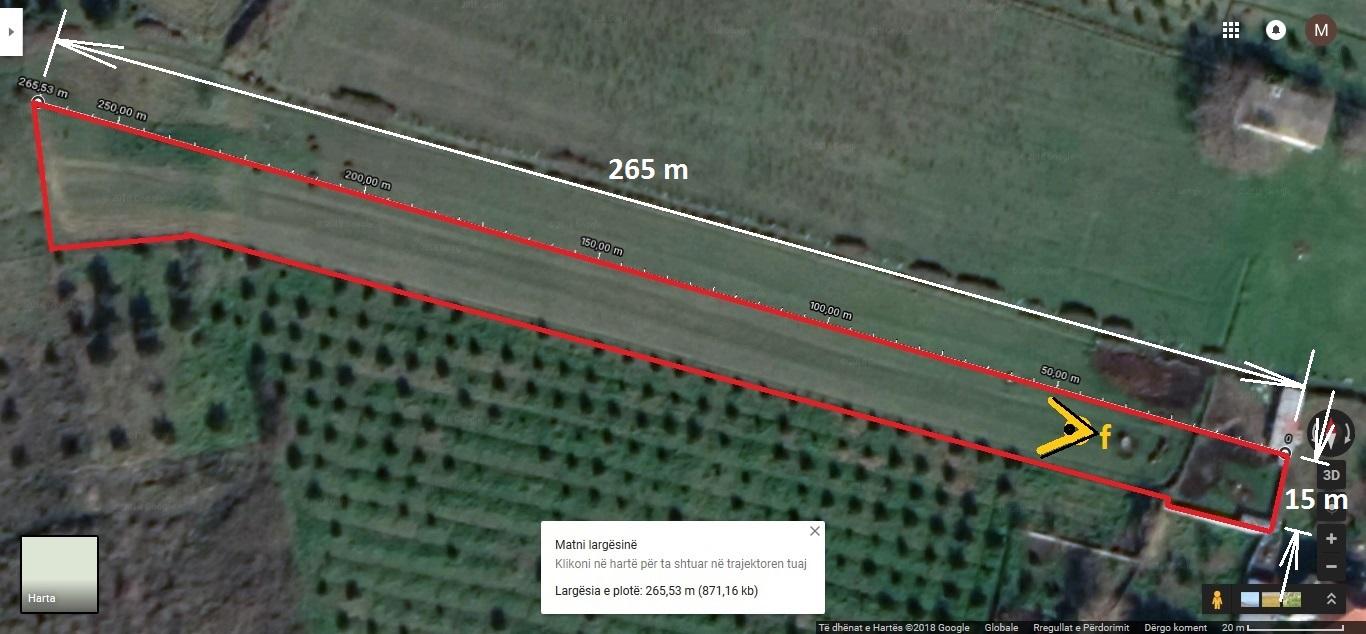 Tok� bregdetit, 3500 m²