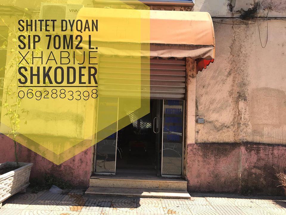 Shitet dyqan sip 70m2 i ndodhur ne L.Xhabije Shkoder.