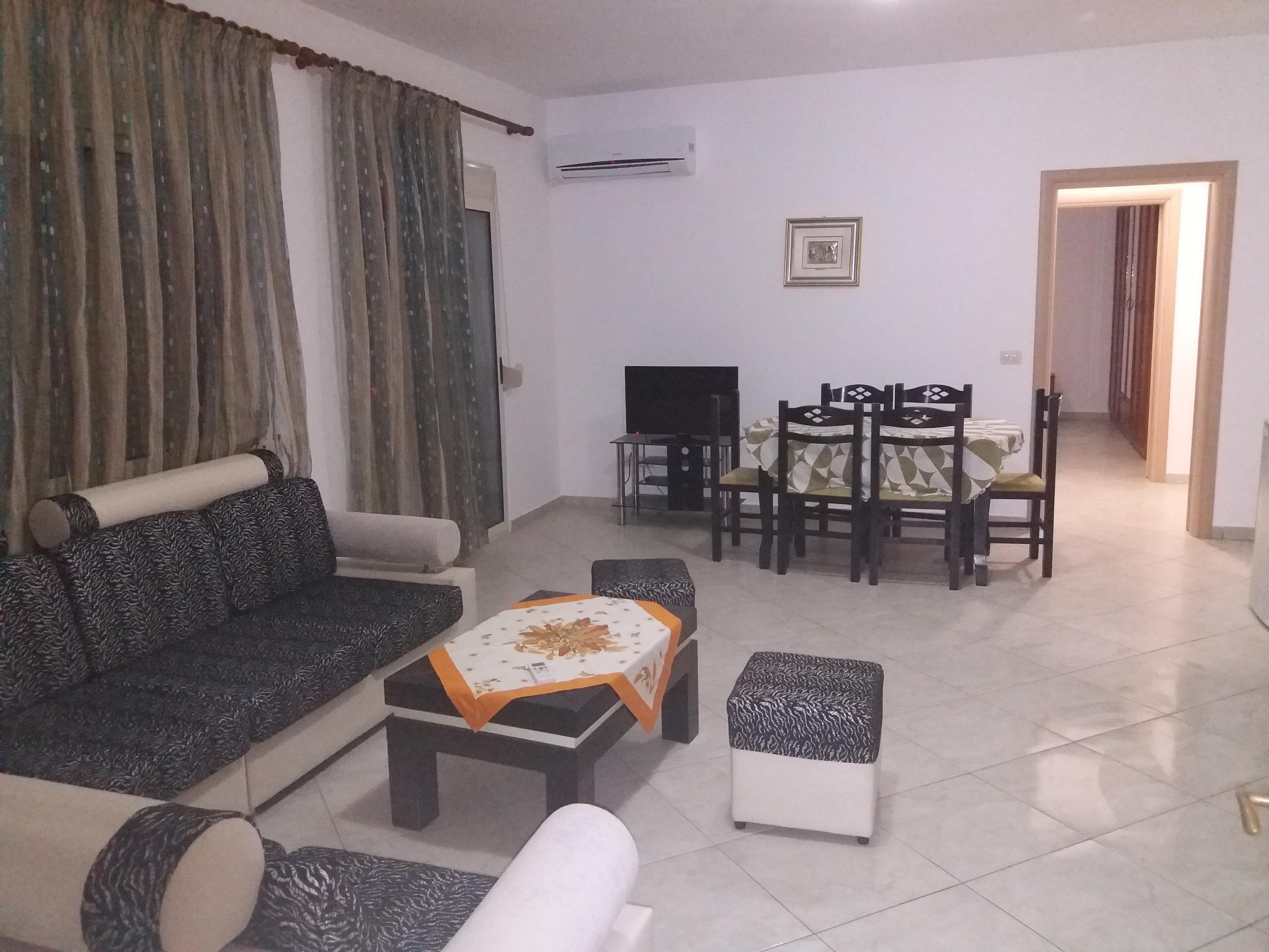 Qera vjetore apartament 2+1 n Durres Plazh . (Plazhi hekurudha)