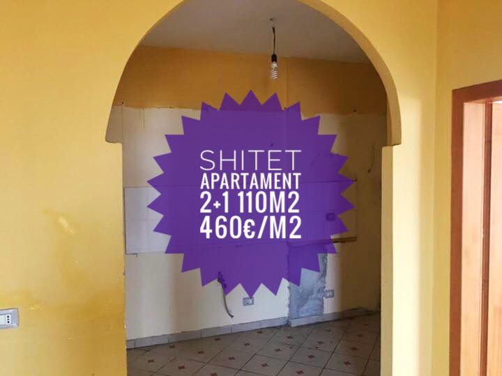 Shitet apartament 2+1 100m2