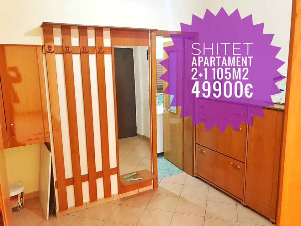 Shitet super apartament 2+1 me 2 wc