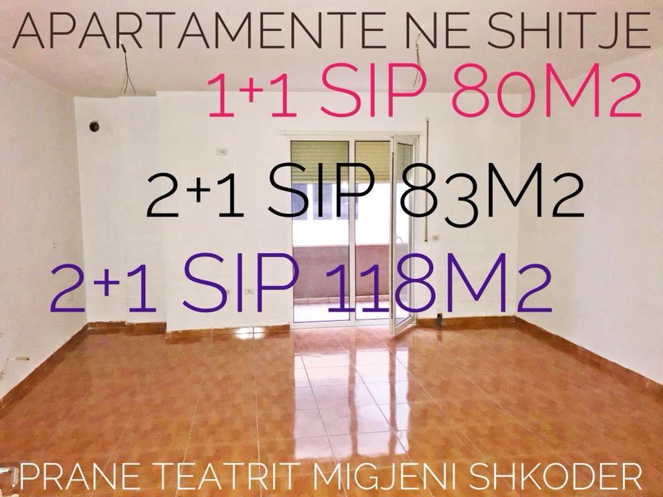 Shiten 5 apartamente 1+1dhe 2+1 me sip te ndryshme