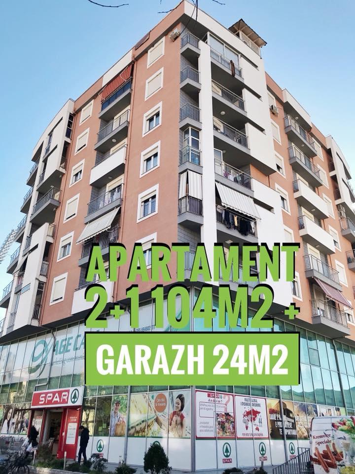 Shitet apartament 2+1 me 2 wc sip 104m2 k6.