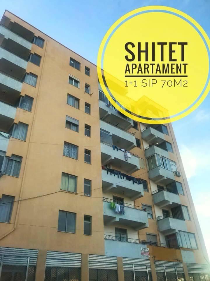 Shitet apartament 1+1 sip 70m2