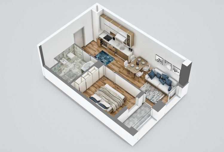 Okazion! Apartament 1+1, 37000 euro