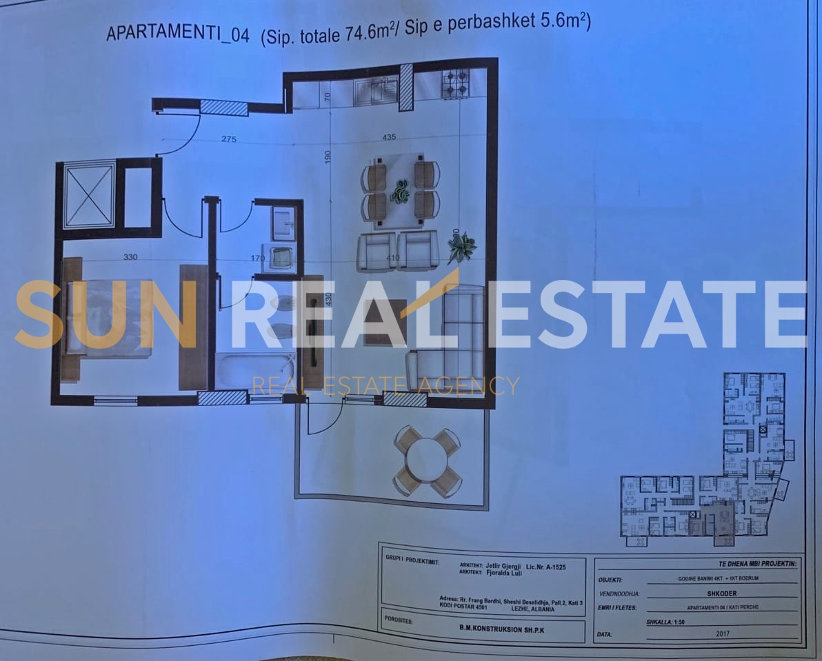 Apartament 1+1 p�r shitje tek Enoteka