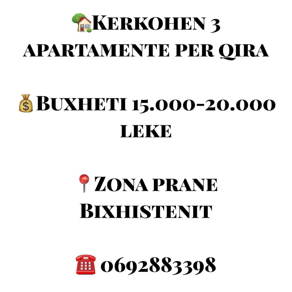 kerkohen tre apartamente me qera